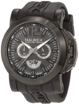 Haurex Italy Men's 3N370UNN San Marco Black Aluminum Rubber Chrono Watch
