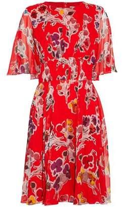 Jason Wu Cape-Effect Floral-Print Silk-Georgette Mini Dress