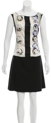 Hache Printed Mini Dress w/ Tags