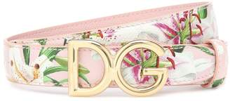 Dolce & Gabbana Floral leather belt
