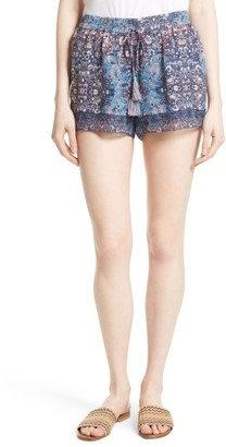 Women's Joie Lindee Print Silk Shorts $188 thestylecure.com