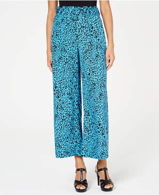 4ec62e5bab Animal Print Wide Leg Trousers - ShopStyle