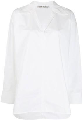 Acne Studios peasant-inspired boxy shirt