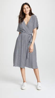 MDS Stripes Rose Wrap Dress
