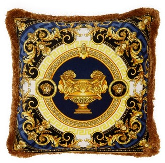 Versace La Coupe Des Dieux Velvet Cushion - Navy Gold