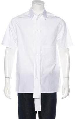 Valentino 2018 Poplin Short Sleeve Pocket Shirt w/ Tags