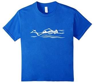Swimming Skeleton Xray 2017 T-Shirt