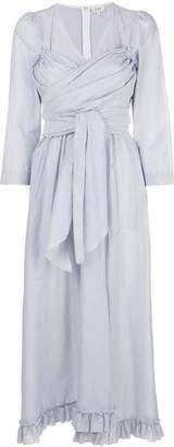 Isa Arfen ruched pinstriped dress