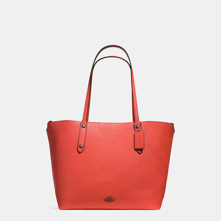Coach  COACH Coach Large Market Tote In Printed Pebble Leather