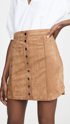 BB Dakota Alright Alright Faux Suede Skirt