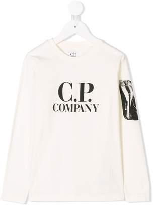 C.P. Company Kids logo print T-shirt