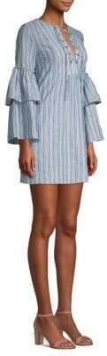 BCBGMAXAZRIA Striped Lace-Up Dress