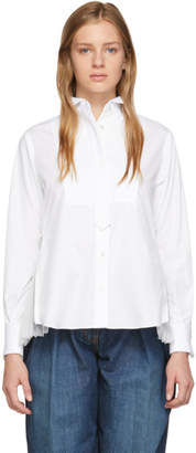 Sacai White Pleated Blouse