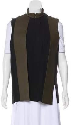 Celine Leather & Silk Vest