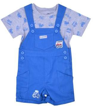 Nannette Baby Boy T-shirt & Shortalls, 2pc Outfit Set