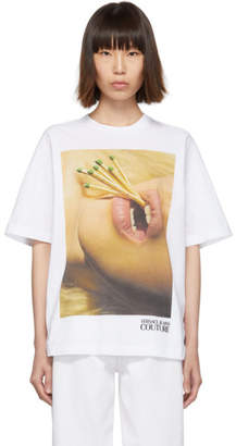 Versace White Couture Matches Mouth T-Shirt