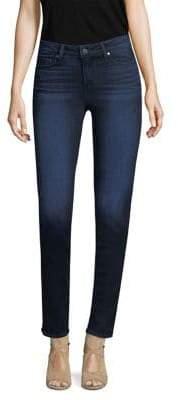 Paige Skyline Skinny Crop Raw Jeans