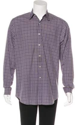 Ralph Lauren Purple Label Check Print Woven Shirt