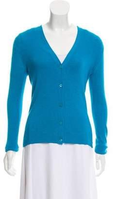 Prada Long Sleeve Button-Up Cardigan
