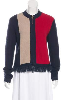 Tory Burch Wool-Blend Casual Knit Jacket