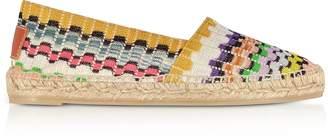 Missoni X Castaner - Kenda Multicolor Canvas Flat Espadrillas