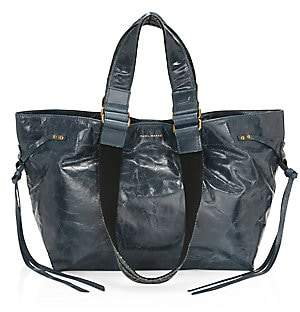 Isabel Marant Women's Bagya Crinkled Patent Leather Tote Bag