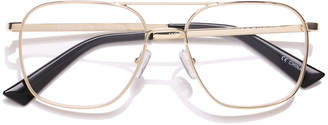 The Book Club Bored Of The Flings Blue Block Metal Aviator Reading Glasses