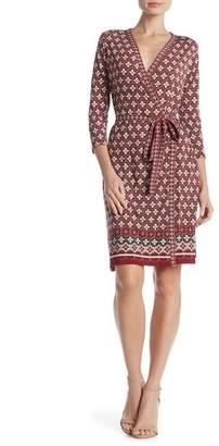Max Studio Border Print Wrap Dress