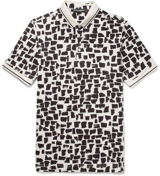 Dolce & Gabbana Slim-Fit Printed Cotton-Piqué Polo Shirt