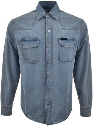 Calvin Klein Archive Western Denim Shirt Blue