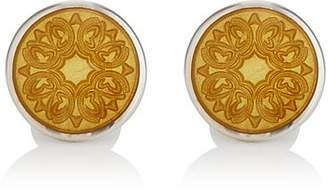 Barneys New York Men's Floral Cufflinks - Yellow