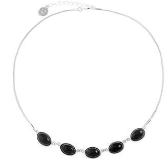 Liz Claiborne Womens Black Collar Necklace