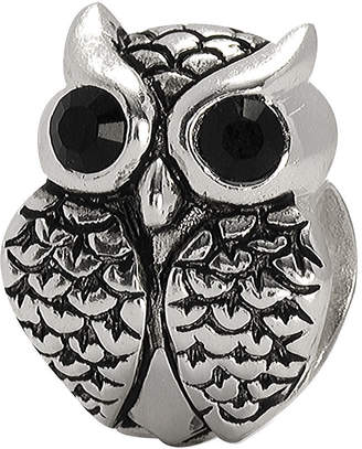 JCPenney FINE JEWELRY Forever Moments Crystal Owl Charm Bracelet Bead
