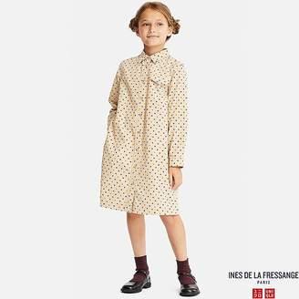 Uniqlo Girl's Corduroy Long-sleeve Dress (ines De La Fressange)