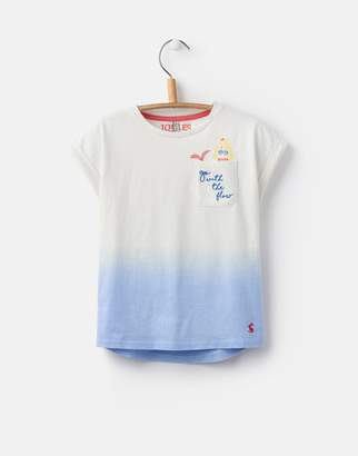 Joules Clothing Sky Blue Ombre Jackie Jersey Thirt 32yr