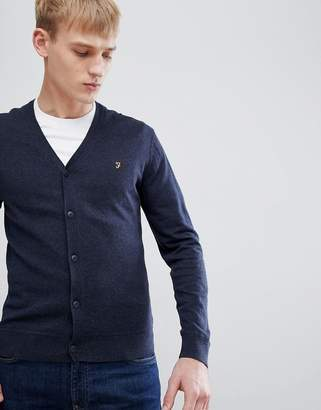 Farah Canning slim fit kitted cardigan in navy