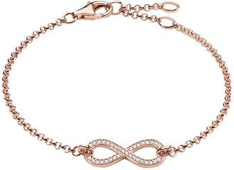 Thomas Sabo Infinity Bracelet in Rose Gold 18cm