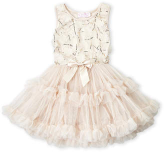 Popatu (Toddler Girls) Floral Applique Tank Tutu Dress