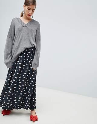Custom Made Custommade Printed Maxi Skirt
