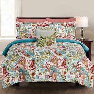 Pacific Coast Textiles Printed Reversible Complete Bed Set - Kailyn