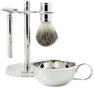 Bey-Berk Bey Berk 4-Piece Safety Razor, Badger Brush, Soap Dish & Stand Set