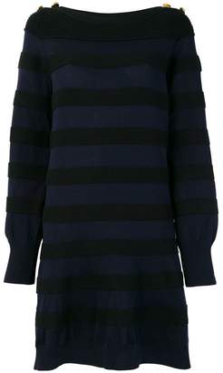 Sacai oversized striped knit dress