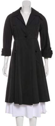 Gucci Belted Guccissima-Lined Coat