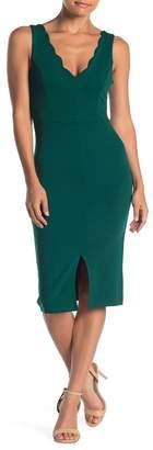 Ash MAX & Scallop Trim Bodycon Dress