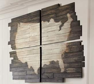 Pottery Barn Planked USA Wall Art Panels