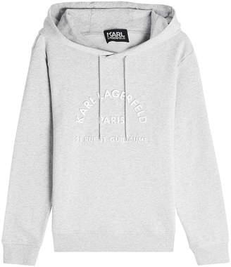 Karl Lagerfeld Logo Cotton Hoody