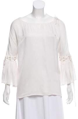 Givenchy Silk Grommet-Accented Top