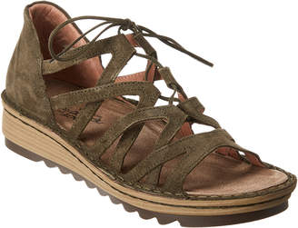 Naot Footwear Yarrow Wedge Leather Sandal