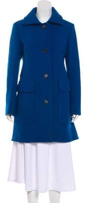 Derek Lam Knee-Length Button-Up Coat w/ Tags