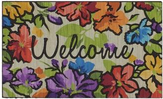 Mohawk Home Water Garden Floral ''Welcome'' Rubber Doormat - 18'' x 30''
